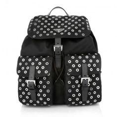 Prada Tasche – Zainetto Tessuto Backpack Nero – in schwarz – Umhängetasche für Damen