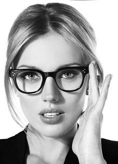 Beauty with glasses