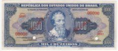 Specimen - 1000 Cruzeiros - 1955 - Brasil