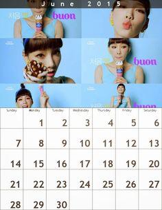 Taeyeon Calendar(800×1035)* June2015