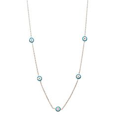 Blue Round Evil Eye Necklace, when good luck is needed to go with a pair of jeans and a tshirt, maybe a dress and some heels as well!