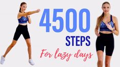 🔥 4500 Step Challenge For Lazy Days🔥/ 4 500 Steps At Home - YouTube