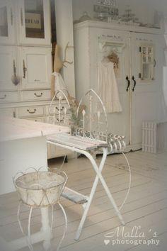 Vintage White Antique Cream and White Farmhouse Romantic Prairie Farm Style