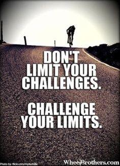Non limitare le tue sfide, sfida i tuoi limiti. Life Coaching... www.warriorsproject.it/2-video-gratis/ The recipe for success.
