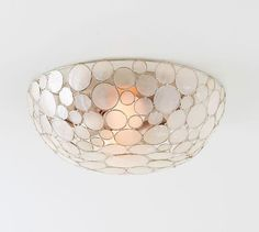 """Marina Faceted Shell Flushmount 