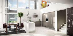 Køkkendesign til det moderne liv: Find dine nye køkkenmøbler Feng Shui, Hacienda Kitchen, Build My Own House, Dining Room Inspiration, Kitchen Dining, Dining Rooms, Modern Contemporary, Elegant, Architecture