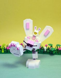 Bunny-bot out to do some damage