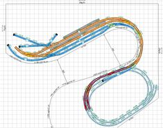 Image Train, Model Railway Track Plans, Train Layouts, Model Trains, Planer, Miniature, Personalized Items, Ideas, Sketches