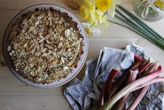 Rhubarb Crumble Tart | Natural Born Feeder