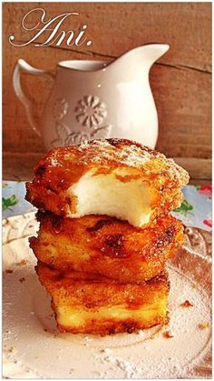 Ani Kitchen: Fried milk step by step, delicious typical Easter dessert Mexican Food Recipes, Sweet Recipes, Dessert Recipes, Mexican Desserts, Tapas, Dessert Original, Spanish Desserts, Do It Yourself Food, Delicious Desserts