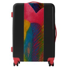 Travel easy with Unique luggage from Zazzle. With a marketplace full of great designs you'll find a one-of-a-kind suitcase. Custom Luggage, Luggage Suitcase, Suitcases, Trunks, Colorful, Abstract, Unique, Artwork, Bags