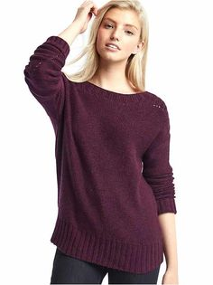 Capsule wardrobe: For crisp fall days, a chunky sweater you can pair with jeans or leggings is a perfect choice.  Women's sweaters, from cardigans to hoodies, at gap.com. | Gap