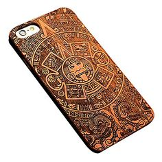 iPhone+7+Plus+Mayan+Style+Removable+Luxury+Pear+Wood+Back+Case+for+iPhone+6s+6+Plus+–+USD+$+14.99