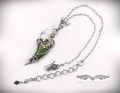 """""""Labyrinth"""" -- Garden Green Jasper Pendant Necklace Fine Silver w/ Faceted Peridot (.90 ct). Original design by Daryl Adams. **Currently Available**"""