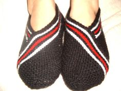 unisex adults black Healthy Booties Home slippers by NesrinArt, $18.00