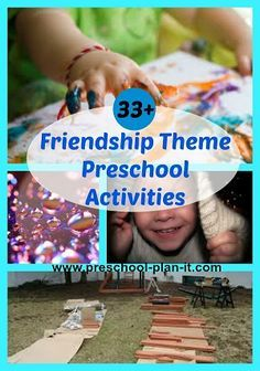 Friendship Preschool Theme!  It's all about the friends!  We can take some time during these activities to teach the kids HOW a friend acts and behaves.  Over 30 activities for your classroom!  Great addition to your Valentine's Day Preschool Theme as well!