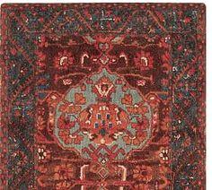 Aisha Printed Rug - Red | Pottery Barn