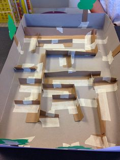 It's almost finished! A STEM Challenge- Build a marble maze! … It's almost finished! A STEM Challenge- Build a marble maze! My Little Kids, Marble Maze, Stem Science, Engineering Science, Stem Steam, Steam Activities, Stem Challenges, Stem Projects, Project Based Learning