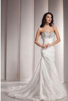 #1 GEORGE BRIDE #Sweetheart #Neckline Taffeta Wedding Dress With Beaded Bodice You Save:$402.00 (70%)  http://astore.amazon.com/bargainshopvillage-women.com-20/detail/B0091QUCFC