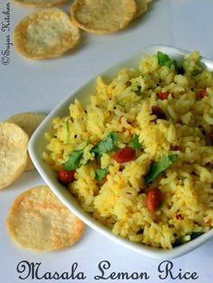 How to make masala lemon rice