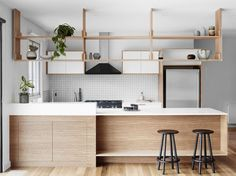 Wooden kitchen in Scandinavian syle | Little Things Interiors