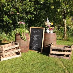 wedding barrel bar