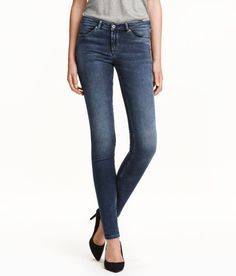Check this out! Feather Soft. Low-rise jeggings in ultra-lightweight, softly draping denim that molds to the body for a feather-light sensation. Mock front pockets, regular back pockets, and zip fly with button. - Visit hm.com to see more.