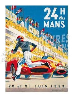 Affiche officielle des 24 Heures du Mans 1959 - Boutique Officielle des 24h du Mans