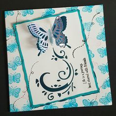 Life is a journey #handmadecard butterflies card using #hunkydory stamps and #tatteredlacedies