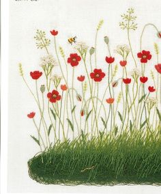 Embroidery master Kazuko Aoki is definitely one of the most famous embroidery craft master in Japan. She is the magician who turns garden and