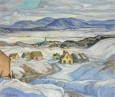Henrietta Mabel May, 'Near Baie St. Paul, Winter' oil on canvas at Mayberry Fine Art Canadian Painters, Canadian Artists, Winter Snow, Baie St Paul, Winter Painting, Winter Scenes, More Pictures, Art World, Snow