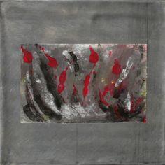 Blei Schweben 2 - Bleibild von Ute Latzke, Mixed Media: Blei, Acryl, MDF-Platte. #blei #lead #art #mixedmedia #graphic