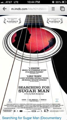 """Searching for Sugarman Detroit native musician. An inspiring """"must watch"""" movie!"""