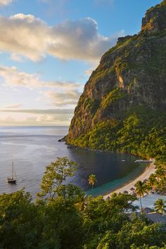 Beach Vacation Destinations : Visit Sugar Beach, St Lucia, for a beautiful curve of beach in the Caribbean. Places Around The World, Oh The Places You'll Go, Places To Travel, Places To Visit, Around The Worlds, Best Honeymoon, Honeymoon Destinations, St Lucia Honeymoon, Holiday Destinations