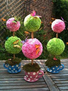 Carnation Topiary Centerpiece Alice in Wonderland by JSanchi21