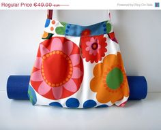 ON SALE Yoga Mat Bag Flowers with Straps Handmade by BabiminiS, €39.20