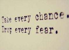 Fear is temporary. Regret is forever. ✨