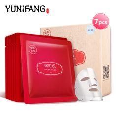 Yunifang granada máscara Facial cuidado Facial antioxidante contra el envejecimiento antiarrugas blanqueamiento brillo hidratante hidratante