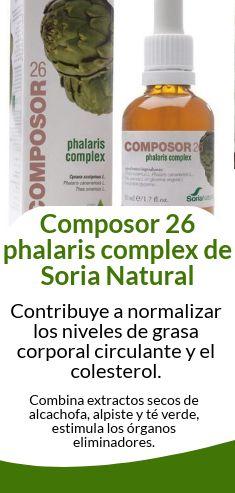 Composor 26 phalaris complex contribuye a normalizar los niveles de grasa corporal circulante y el #colesterol.
