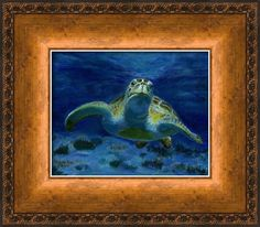 Honaunau Honu Framed Print By Michele Ross