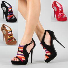 Strappy Color Block Sandals