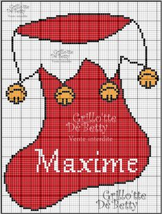 noël - christmas - botte - point de croix - cross stitch - Blog : http://broderiemimie44.canalblog.com/