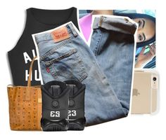 """OhManGodDamn✨"" by theyknowtyy ❤ liked on Polyvore featuring MCM and Levi's"
