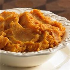 Gourmet Sweet Potato Souffle Recipe - This is what Shirley made for Easter dinner today - WOW!