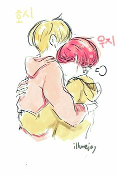 Woozi and hoshi ~ my top pair cause just too much fluff Seventeen Woozi, Cartoon Fan, Gifs, Kpop Fanart, Wattpad, Vmin, I Fall In Love, Drawing Reference, Cute Drawings