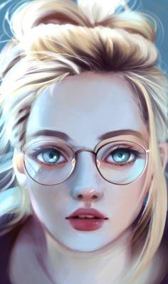 64 ideas for digital art girl deviantart anime Digital Art Girl, Digital Portrait, Portrait Art, Digital Art Anime, Portraits, Fantasy Kunst, Fantasy Art, Pretty Art, Cute Art