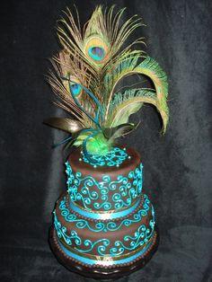 peacock cake!!!
