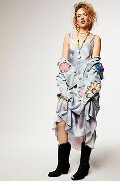 f59ecf405fa8a2 Slide View 6  Palm Silk Maxi Dress Vintage Gypsy