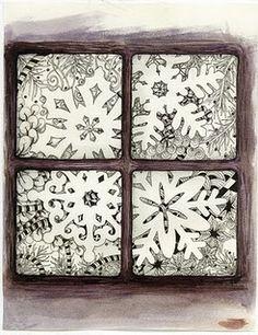 Zentangle design for Christmas card