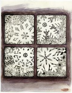 Zentangle design for Christmas card